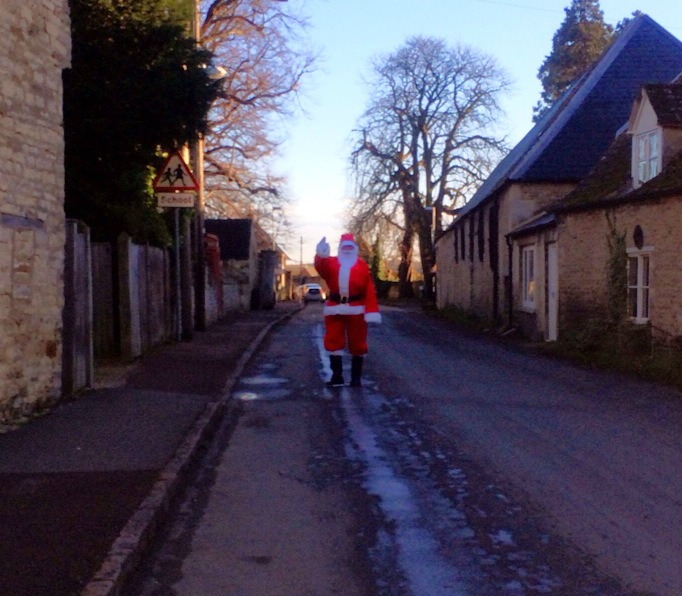 Santa spotted in Church Street