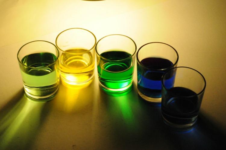Coloured Drinks by Paul Cummings