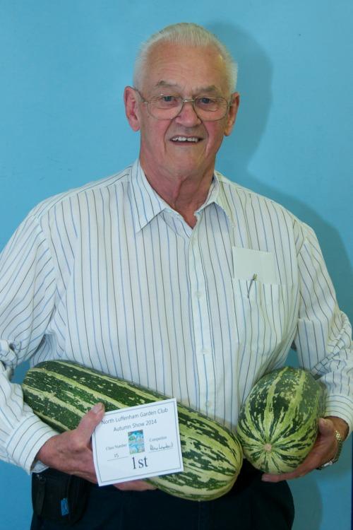 Alan Lambert with prize winning marrows resized