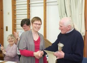 Winner of the President's Cup - Finola Timmins