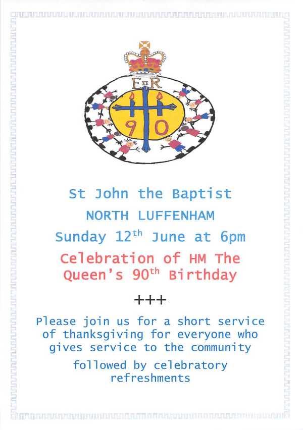 church service 12 June poster