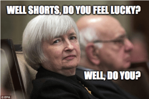 Yellen shorts