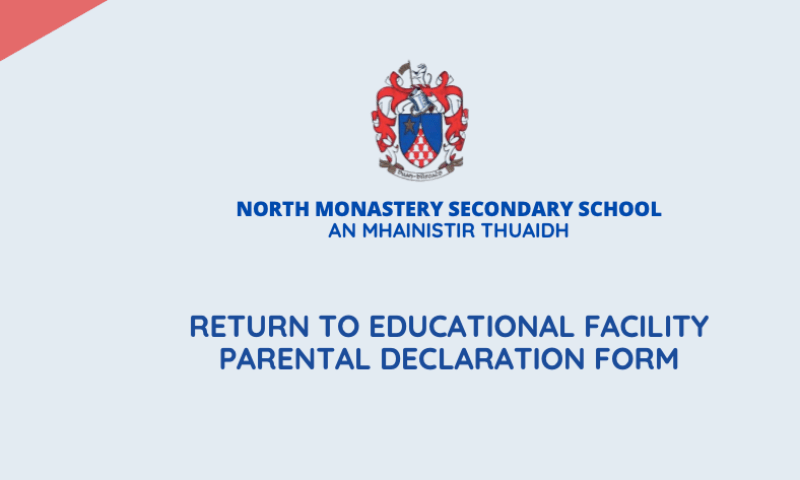 Return to Educational Facility Parental Declaration Form