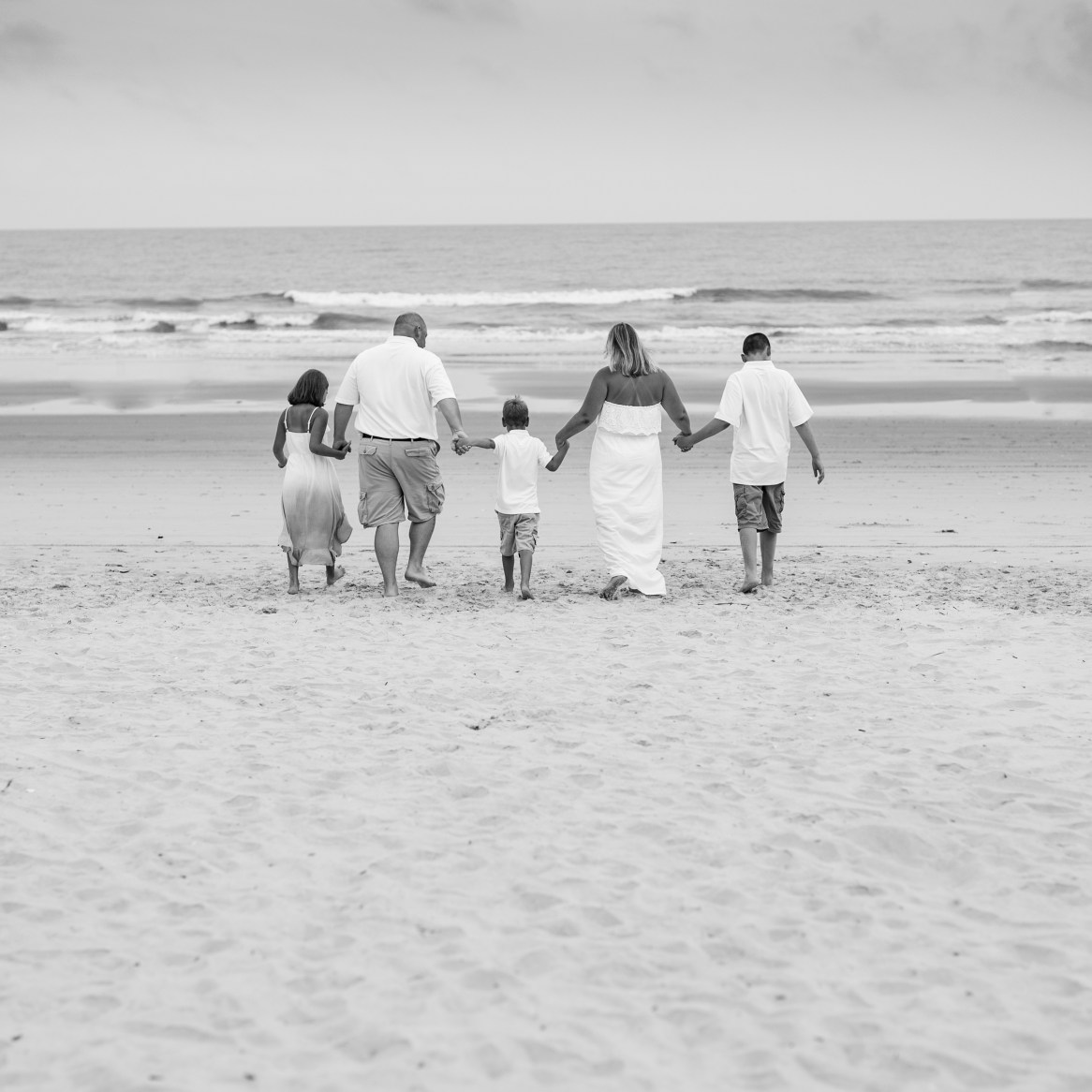black and white pics on the beach