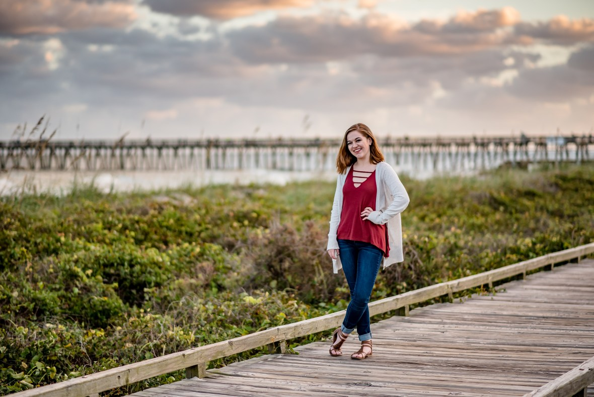 Senior portraits in Myrtle Beach for high school graduation