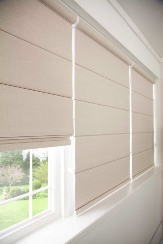 Roman blinds from North Notts Blinds