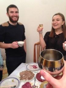 ...made many toasts...