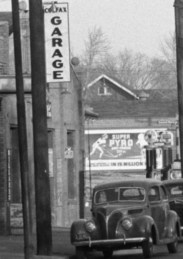 This is the Colfax Garage at North 30th and Redick Avenue.