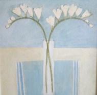White flowers/Acrylic/42x42/£650