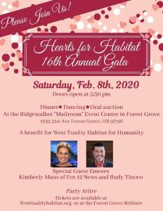 Hearts for Habitat - 16th Annual Gala