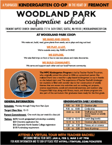 Woodland Park Kindergarten Flyer
