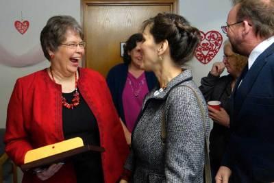 Lorraine Watson greets folks