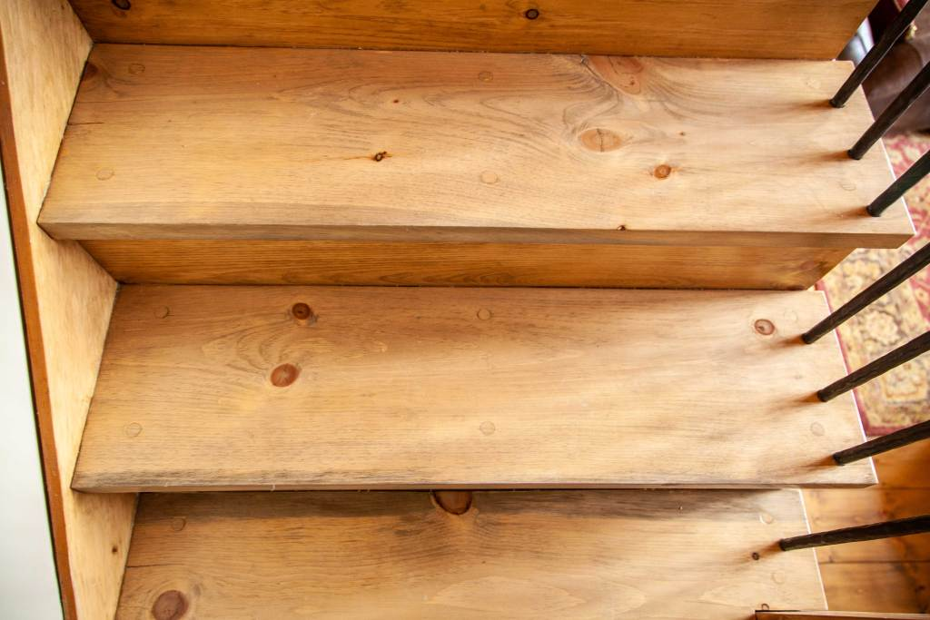 Wood Plugs in Custom Staircase