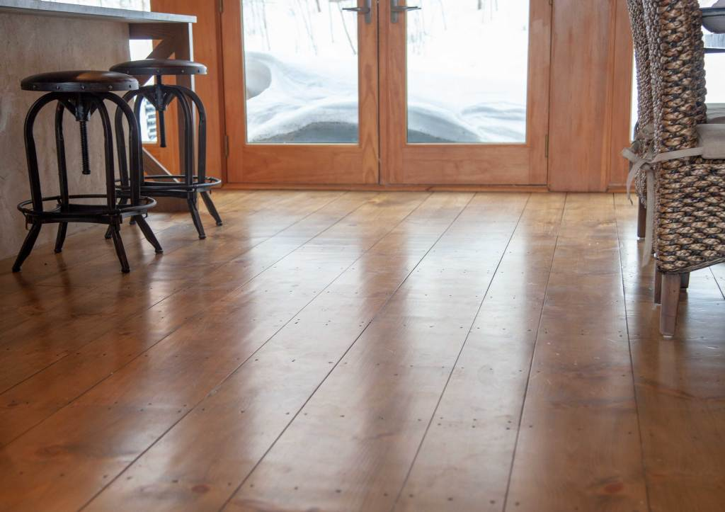 Refinished Wide Plank Pine Floors
