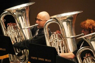 Great to see Craig Rhodes and Rob Parker anchor the band as our BBb Basses