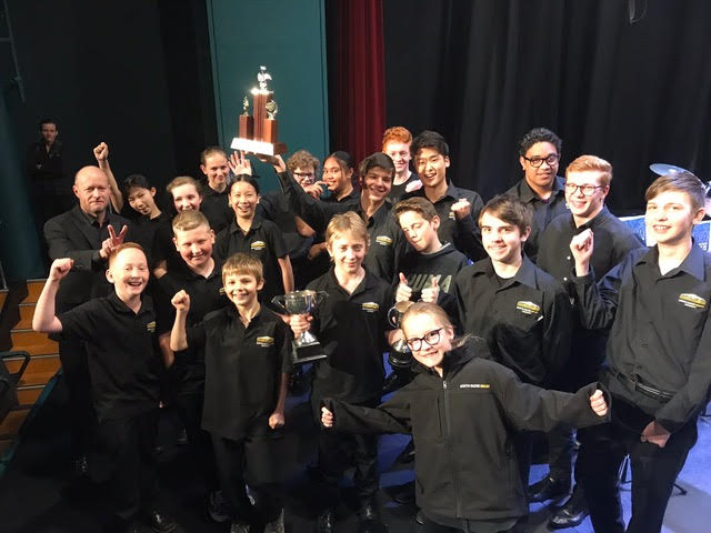Takapuna Youth Brass (Mark Close) win the Youth section at the 2018 ABA Band Contest