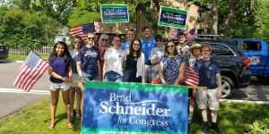 March with Brad Schneider in the Waukegan American Independence Parade @ Line up #21   Waukegan   Illinois   United States