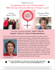 Ultimate Women's Power Lunch - 18th Annual Jan Schakowsky's @ Hilton Chicago | Chicago | Illinois | United States
