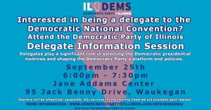 2020 DNC Delegate Selection Information Session @ Greenbelt Cultural Center | Waukegan | Illinois | United States