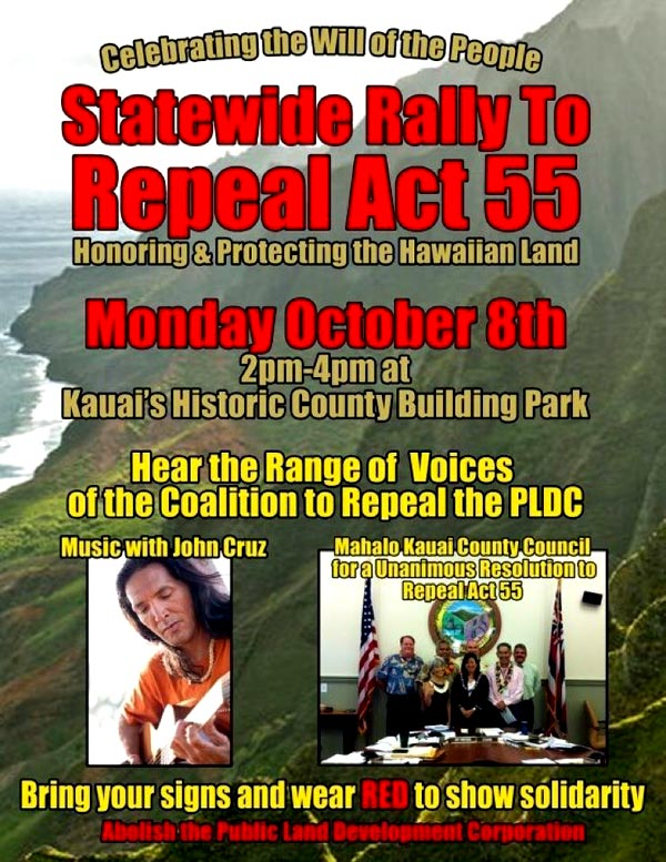 Statewide Rally To Repeal Act 55
