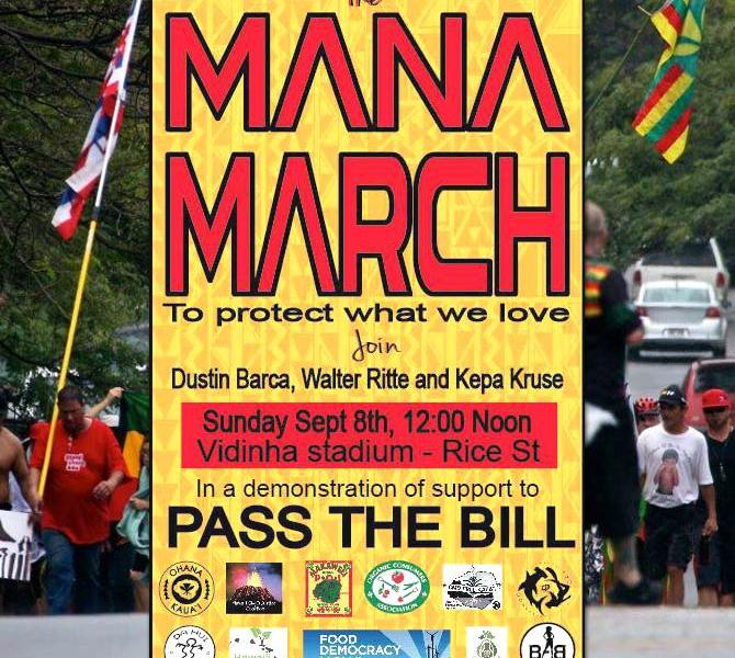 Mana March Scheduled