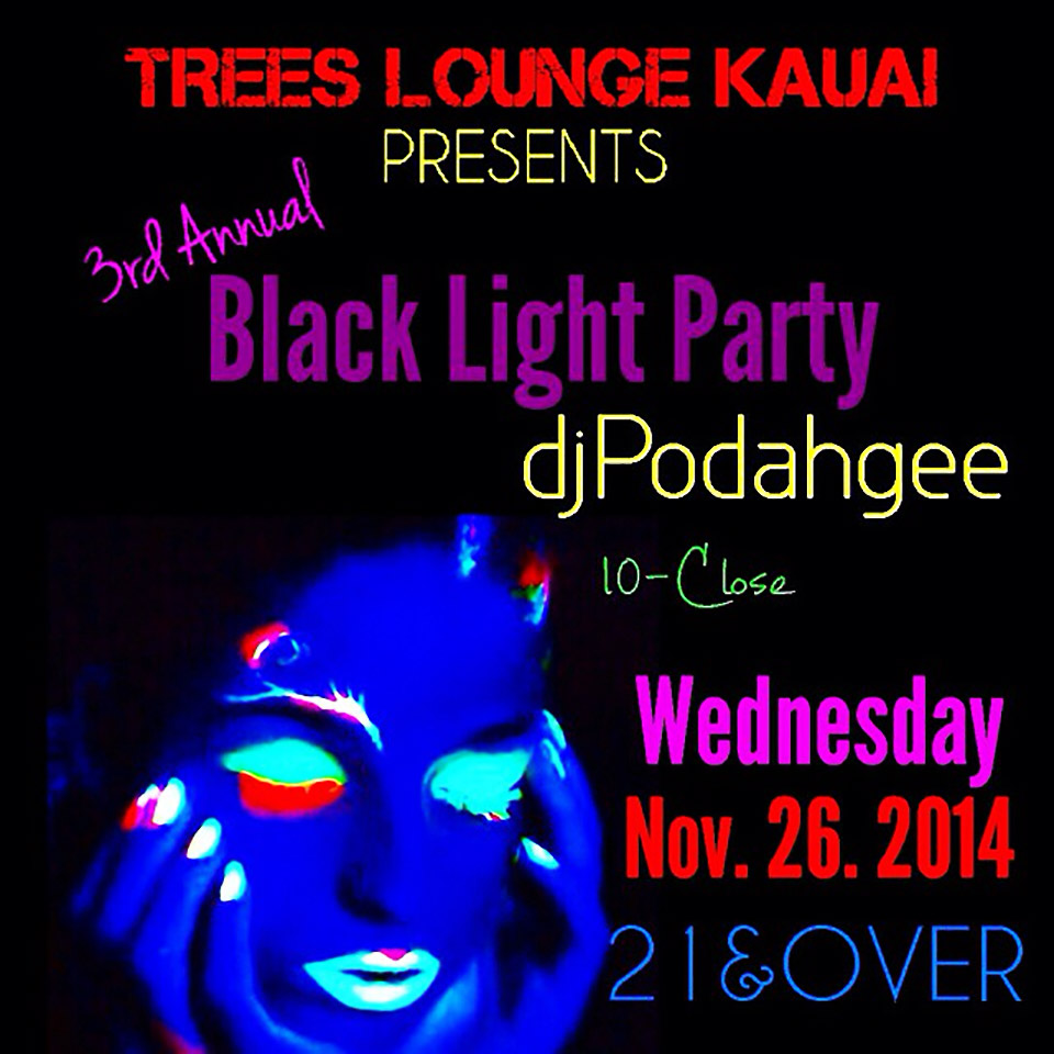 3rd Annual Black Light Party