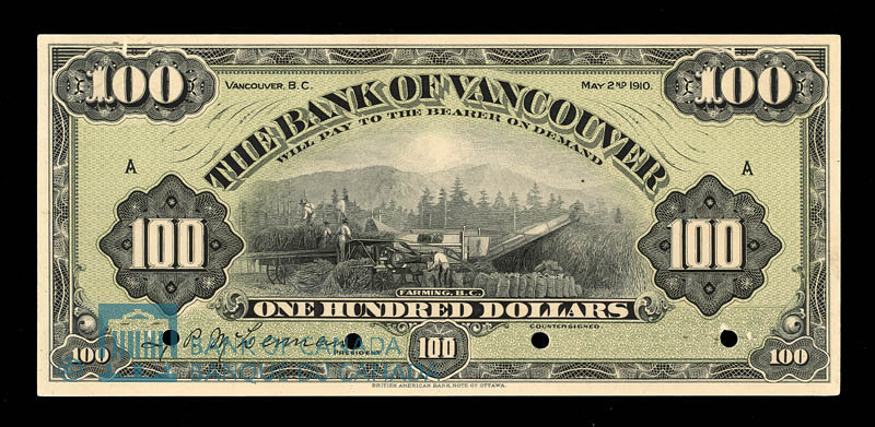 Bank of Vancouver Note