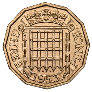 Three Pence coin