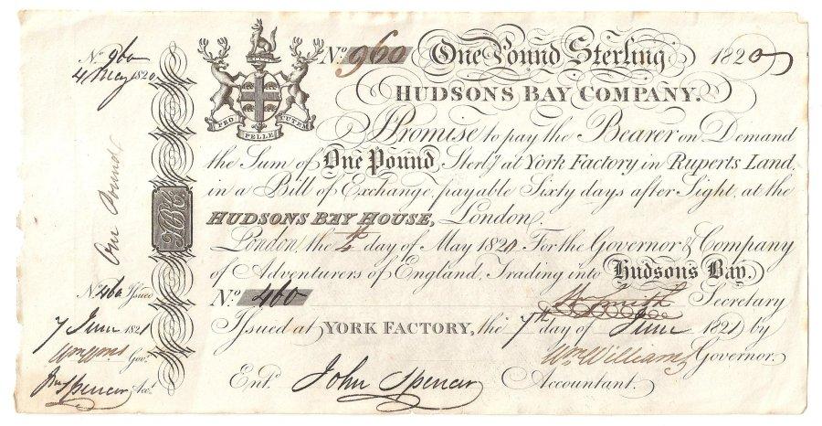 HBC 1820 York Factory Pound 001