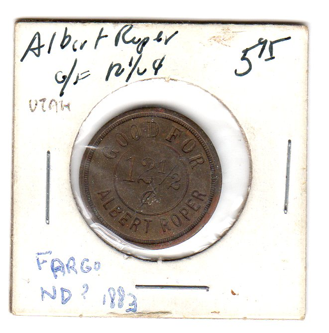 Albert Roper 12 and a half cent token