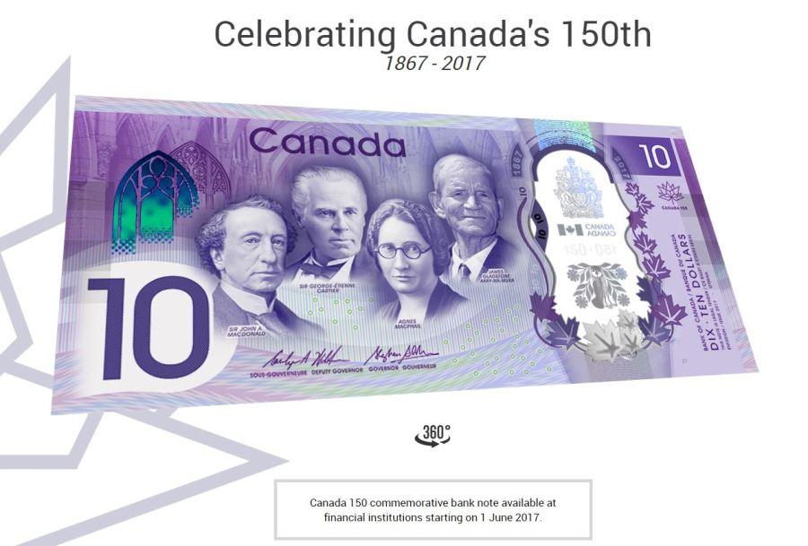 Canada 150 Ten Dollars