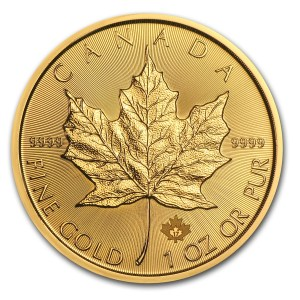 Canada gold maple leaf