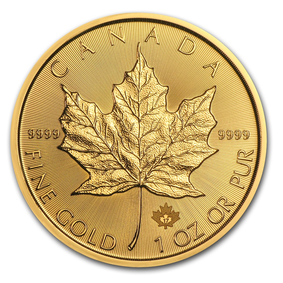 Canada gold maple leaf