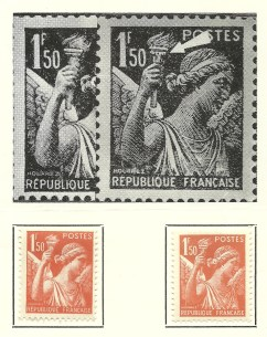 French 1 Franc Stamp
