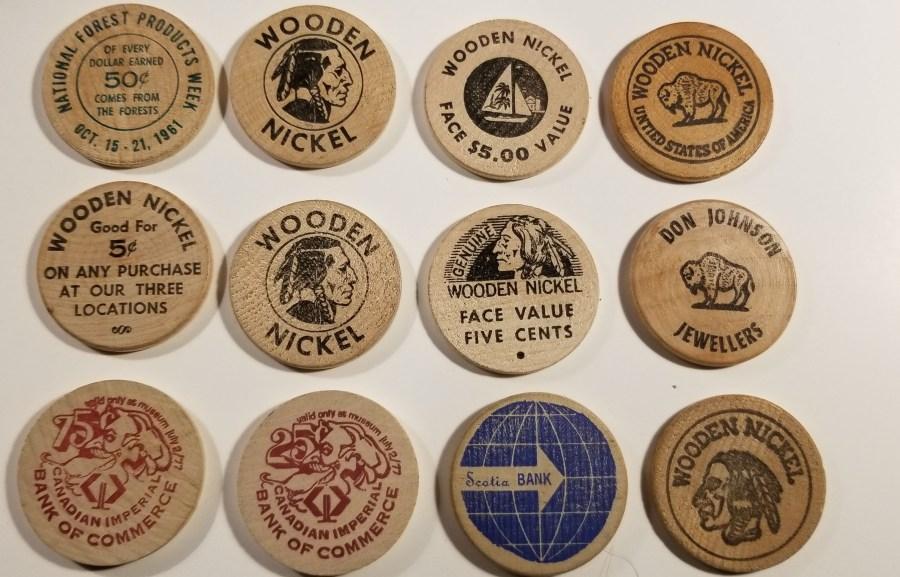 Vancouver Wooden Nickels assortment