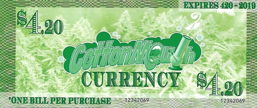 green back of note