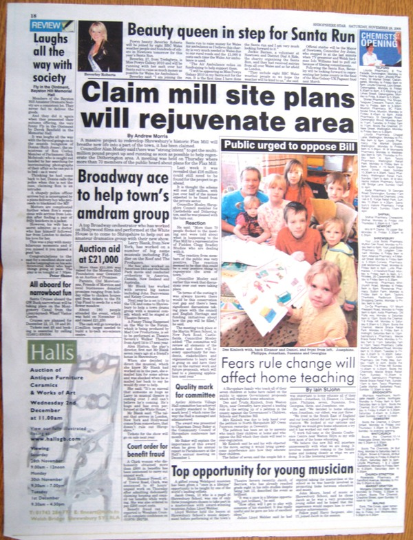 Shropshire Star - Article 28 November 2009