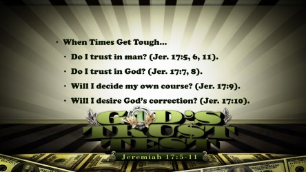 God's Trust Test Points Slide