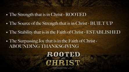 Rooted in Christ Point Slide