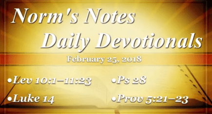 Norm's Notes for February 25, 2018