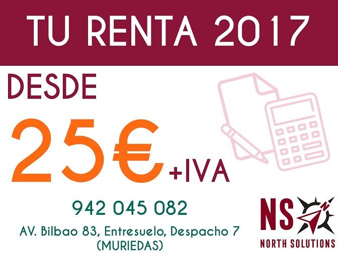 Renta 2017 Cantabria