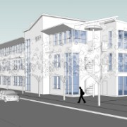 Artist's impression of The Hive Business Centre