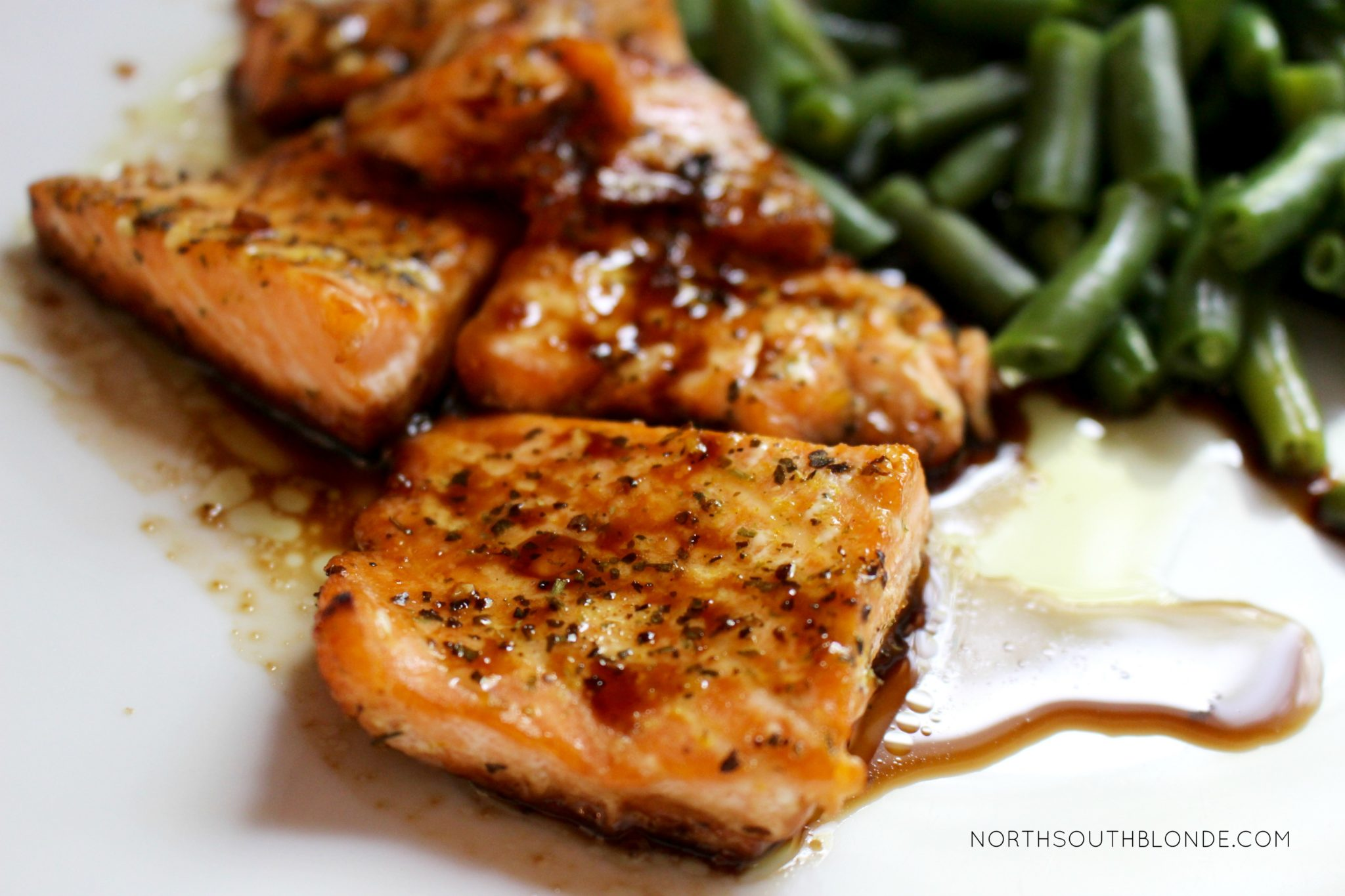 A tasty teriyaki salmon recipe that's sweet enough to get your kids eating healthy. The marinade is super easy to make and involves only a few ingredients! Easy Recipes | Dinner | Lunch | Marinade | Seafood | Fish | Gluten-Free | Quick & Easy | Clean Eating | Healthy | Good For You | Weight Loss | High Omega 3's | Healthy Fats | Brain Food | Toddler Food | Kid-Friendly | Super Food | Easy Dinner Recipes | Main Dish | Entree Ideas |