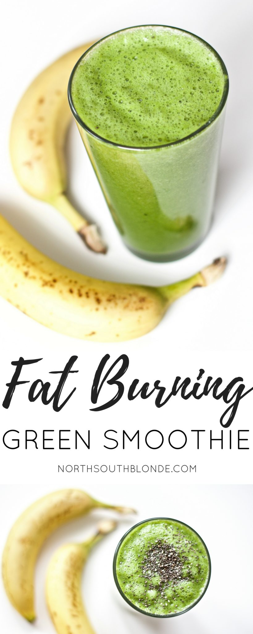 Fat Burning Green Smoothie Post Workout Gluten Free Vegan Paleo