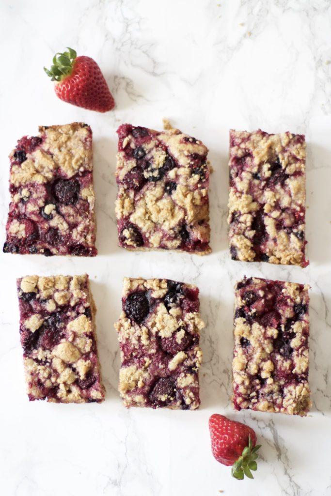 Berry Pie Crumble Bars (Gluten-Free, Vegan)