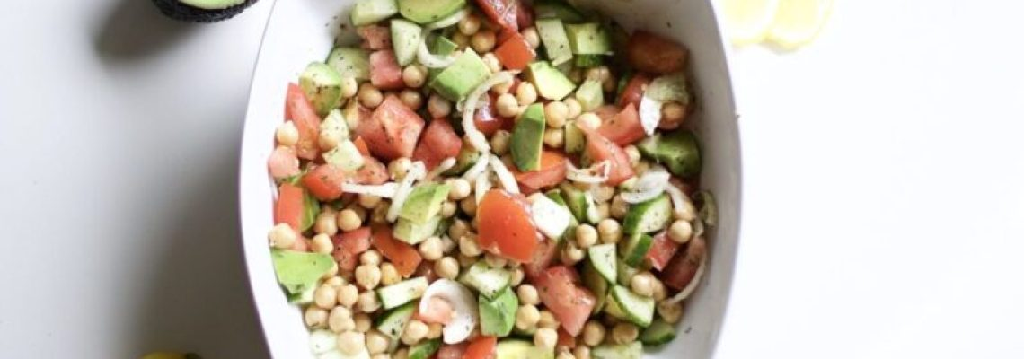 Vegan Avocado & Chickpea Salad (Vegan, Gluten-Free, Paleo, Whole 30)