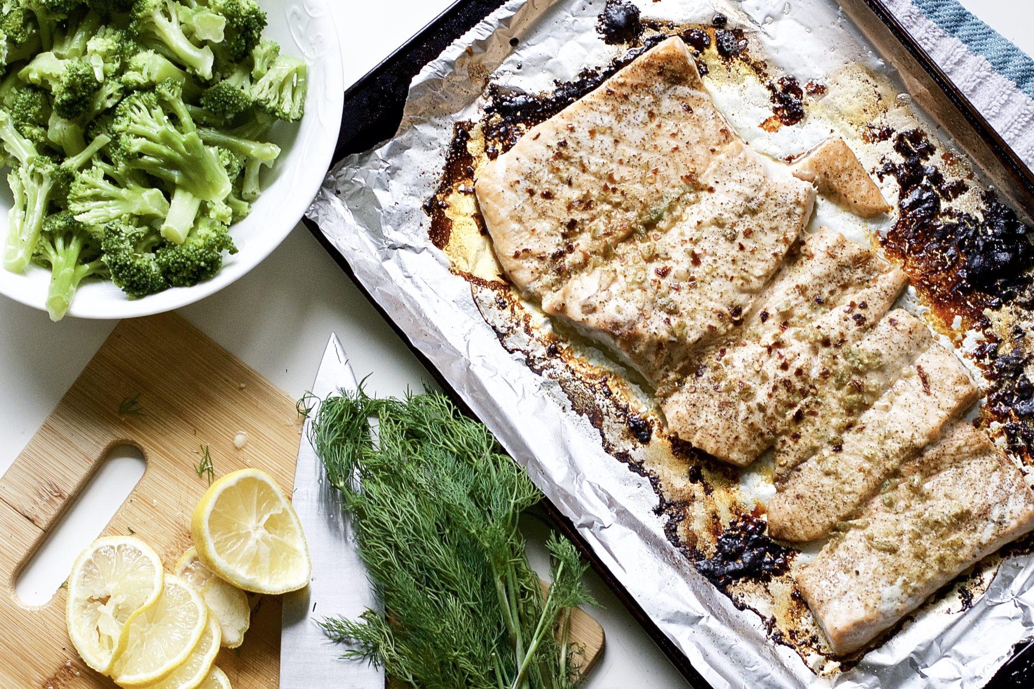 Lemon and Garlic Butter Salmon (Gluten-Free, Paleo, Whole 30)