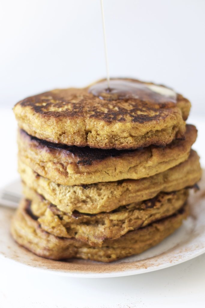 Healthy Pumpkin Pancakes (Vegan, GF, Grain Free, Paleo)