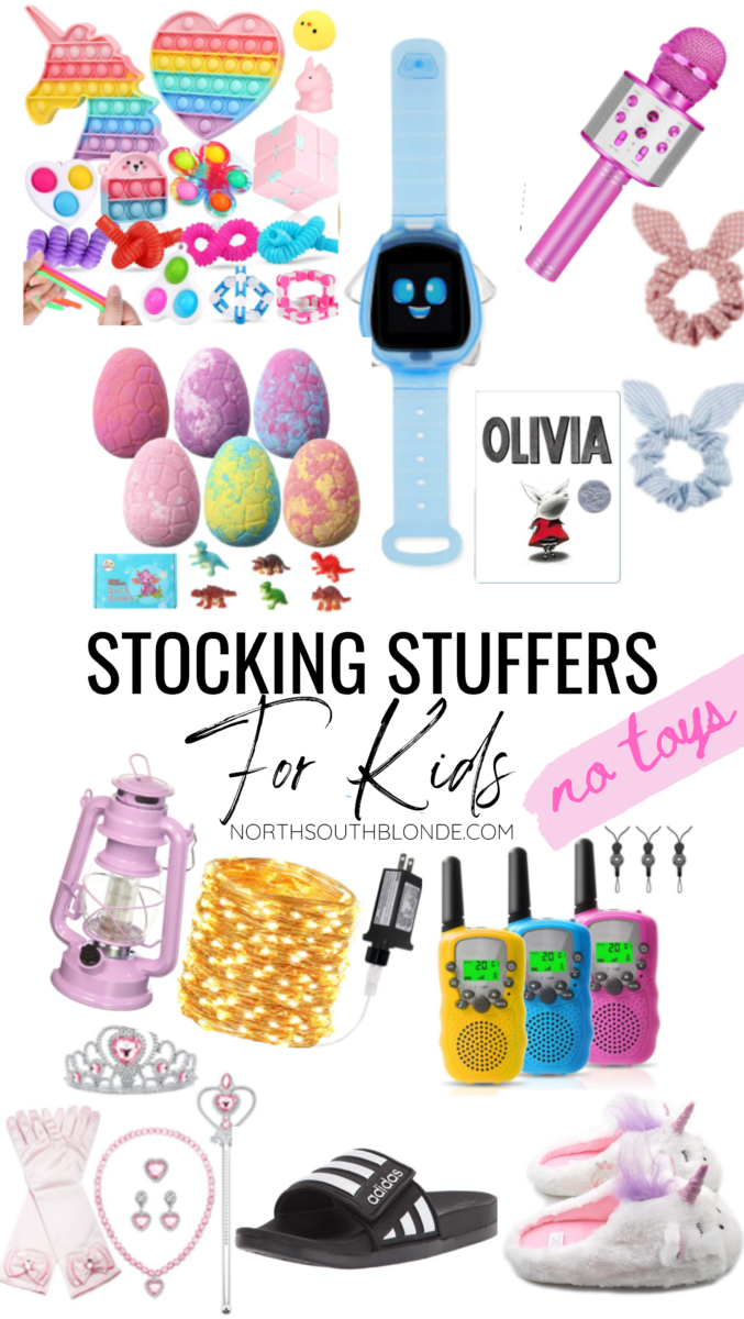 For stocking stuffer gift ideas for the kids this Christmas, here are small and affordable items - no toys - that the'll love! Kids | Toddlers | Christmas Gifts | Stocking Stuffer Ideas | No Toys | No Junk | Gift Guide | Save Money | Motherhood | Parenting |