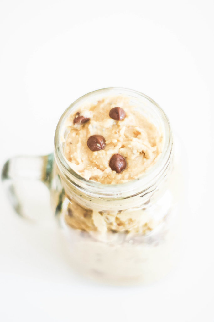 Vegan chickpea cookie dough is creamy and delicious, healthy and safe to eat, involving only a few ingredients. A guilt free dessert thats high in fiber and protein! Vegan desserts | Dairy Free | Refined Sugar Free | Raw | Gluten Free | Chickpeas | Chickpea Dessert | Chickpea Cookie Dough | Grain Free | Egg Free | Eggless | Healthy Snacks | Healthy Desserts | Vegan Chocolate | Weight Loss | High Fiber | Blender | Food Processor | Vegan Cookie Dough | gluten-free